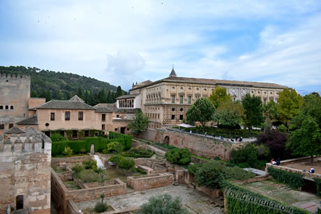 view of the alcazaba of the alhambra