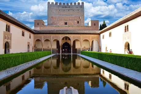 alhambra of granada in spain