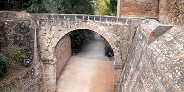 alhambra entrance bridge crossing