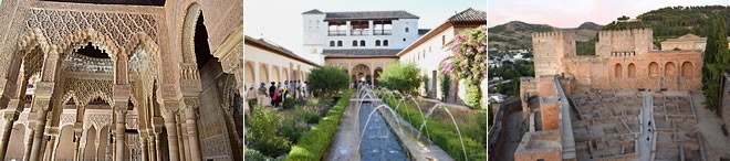 guide tour of the generalife, nadrid palaces and alcazaba