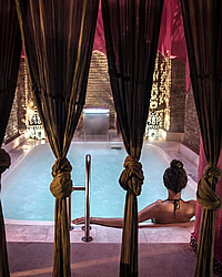 arab bath in granada with traditional old style