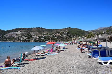 beautiful beach of la herradura