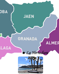 the herradura map in the andalucia