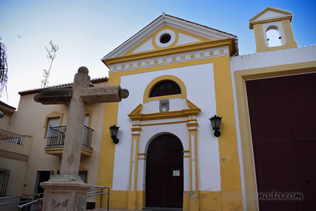 carmen church with cross in front of it in motril