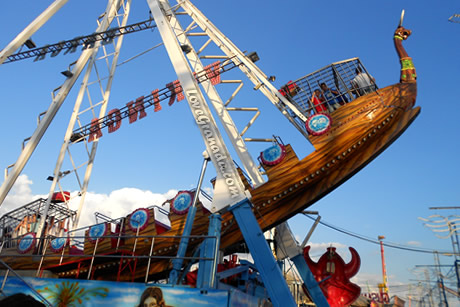 wooden ship in the granada fairground