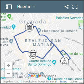 map of huerto