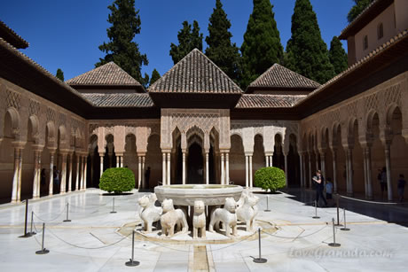 patio of lions in the alhambra