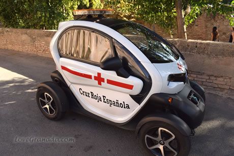 red cross car in the alhambra