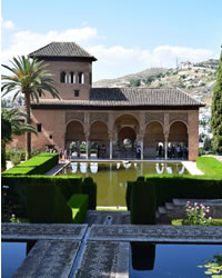 beautiful partal palace in the alhambra