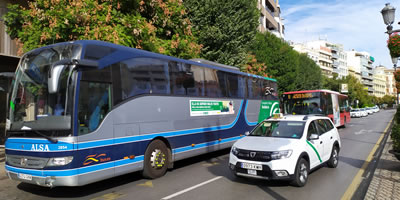 transport of granada, trains, buses, flights and taxis