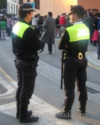 police officers on granada streets