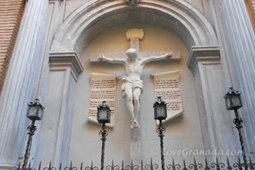 statue of jesus in the church of angustias in granada