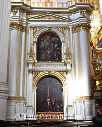 beautiful interior of granada cathedral