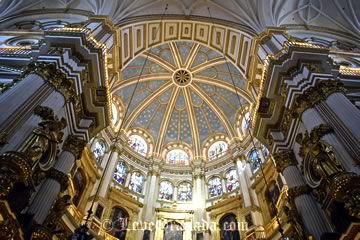beautiful dome in the catedral of granada