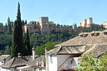 view of the alhambra from chapiz house