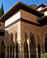 one of the monuments of granada, the alhambra