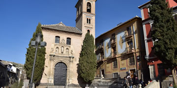 santa ana church in granada