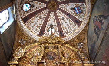 beautiful dome in zafra convent of granada