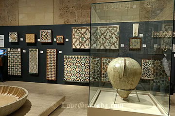 room 5 with the mosaics in the alhambra museum