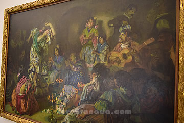 picture of gypsies dancing in art museum
