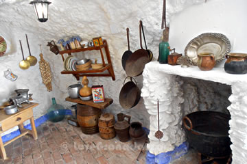 chimney and otehr articles in sacromonte museum