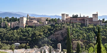 beautiful views from mirador de san nicolas in granada