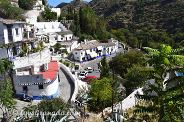 view of the streets of the sacromonte in granada