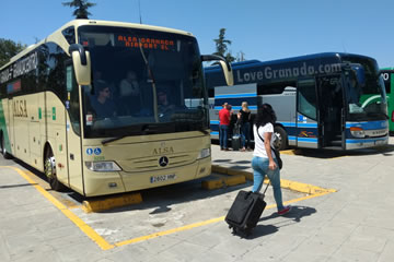 buses from the airport of granada