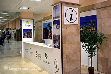 information point at the airport of granada