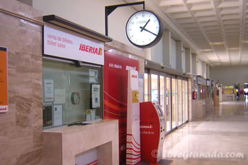 iberia office at the federico garcia lorca de granada airport