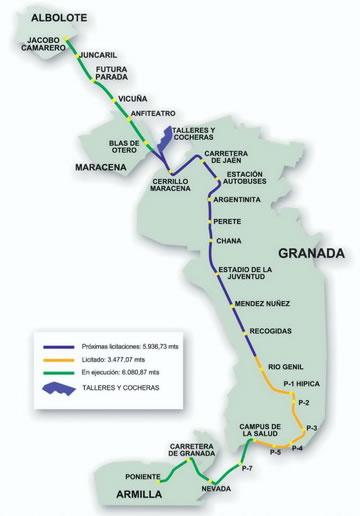 Granada Metro Rutes Maps And Reviews Of Metro