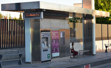 vending machines to sell tickets of metro in granada