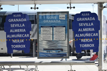 stop in malaga airport with city names