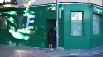 car rental europcar in granada train station